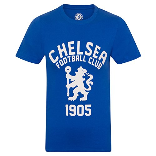 Chelsea FC Official Soccer Gift Mens Graphic T-Shirt Royal Blue Small ()