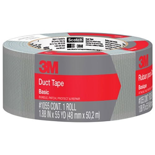 3M™ Basic Duct Tape, 1.88 in x 55 yd, 1 Roll - 1055-AF