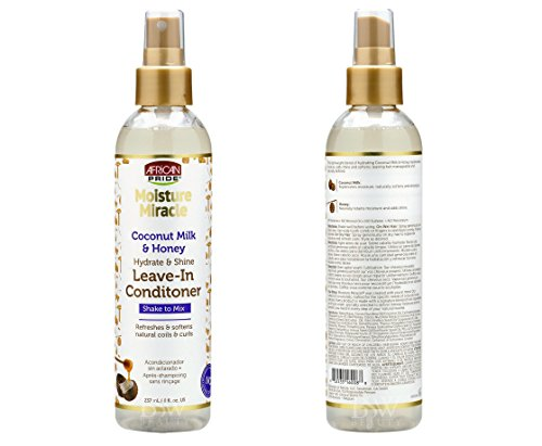 African Pride Moisture Miracle Coconut Milk and Honey Hydrate & Shine Leave- in Conditioner