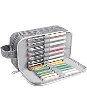 Vicloon Pennskrin stor kapacitet pennväska 3 fack pennväska tentamen penna pennfodral sminkväska kontor kontorsmaterial för högstadiet högstadiet studenter flickor pojkar tonåringar förvaring gåva