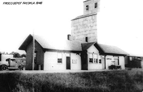 Fay Oklahoma Frisco Railroad Depot Real Photo Vintage Postcard (Vintage Real Photo Postcard)