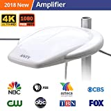 New Generation Outdoor Amplified HDTV Antenna with Omni-Directional Enchanced VHF/UHF,Long 65 Miles Range with High Gain Amplifier Booster, Fit Indoor/Outdoor/RV/Attic Use