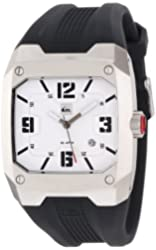Quiksilver Men's QWMA014-SIL Analog Polyurethane Strap Watch
