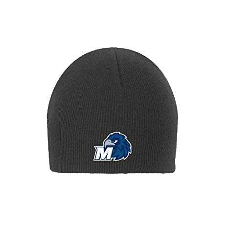 Amazon.com   CollegeFanGear Monmouth Charcoal Knit Beanie  Hawk with ... 2ed4a7ac6e6