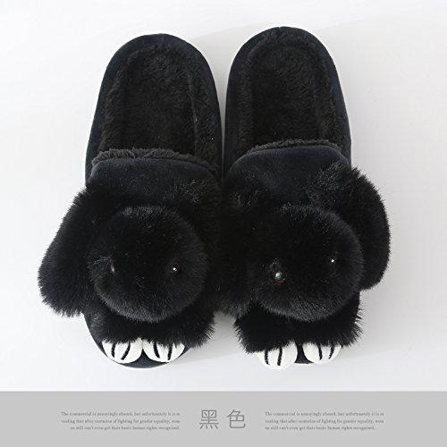 nbsp;L'hiver de Chaussures LaxBa Chaussons chaleureux moelleux antiglisse au nbsp; accueil Chaussons Chaussons Maison chaud l'hiver l'hiver Cagazqd