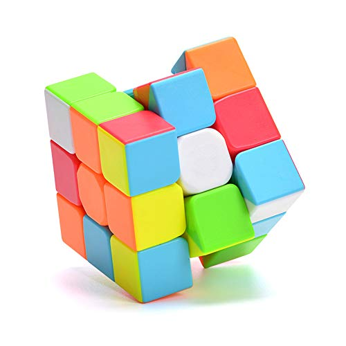Wanrun 3x3 Speed Cube Stickerless Magic Cube 3x3x3 Puzzle Cube Vivid Solid Color Durable Brain Teaser Toys Enhanced Version(56mm)