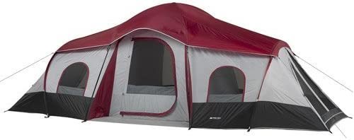 Ozark Trail XL 3 Room 10 Person Family Camping Tent