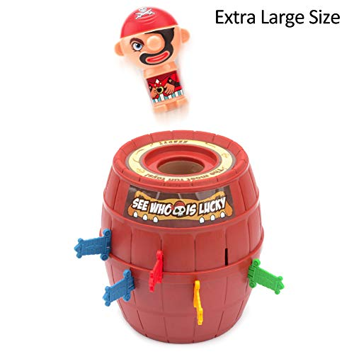 Pop Up Pirate Barrel Game Lucky Stab Barrel Novelty Toys Game for Children 5+ by Little World