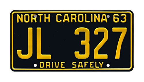 Celebrity Machines The Andy Griffith Show | Mayberry Police Car | JL 327 | Metal Stamped Vanity Prop License Plate