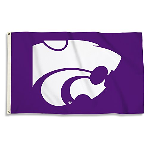 NCAA Kansas State Wildcats 3 X 5 Foot Flag with Grommets, Purple,