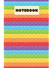 notebook: POPIT FIDGET TOY LARGE LINED NOTEBOOK- 6*9 in and 105 pages