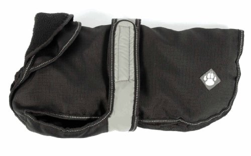 :danish Design, Black 2 In 1 Light Reflective Dog Coat 45cm (18