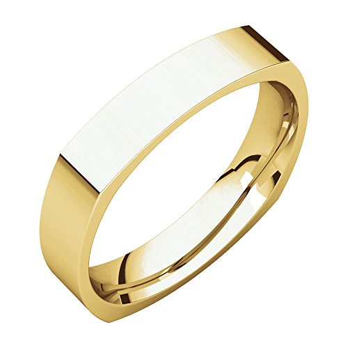 Square Comfort Fit Band , 22kt Yellow gold, Ring Size 9 (22k Gold Wedding Band)