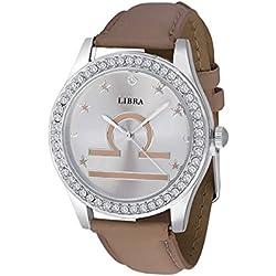 Unisex Crystal Zodiac Horoscope Watch-Libra