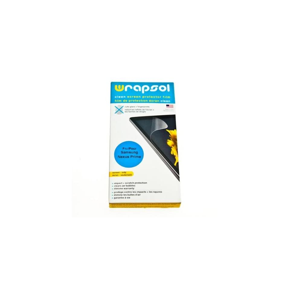 Wrapsol CLEAN Anti Fingerprint Screen Protector for Samsung Galaxy Nexus Prime