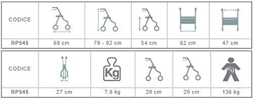 andador rollator para discapacitados Plegable de Aluminio - firmas ...