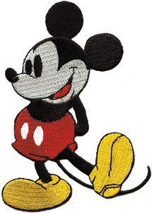 Amazon.com: Disney Character Classic Mickey Mouse Embroidered Iron On