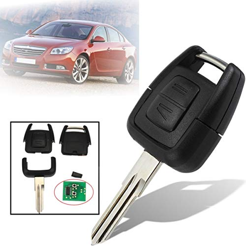 Transport-Accessories - 2 Buttons Car Remote Key Fob Case Shell With IN40 Chip 433.92MHZ For Vauxhall/Opel/Omega Astra Zafira Frontera Vectra ()