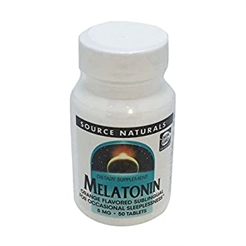 Source Naturals 5 Mg Melatonin Sublingual Orange Tablets 50 ct