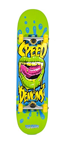 """Speed Demons 39 Series Complete Skateboard, Demon Mouth, 31"""" x 8"""""""