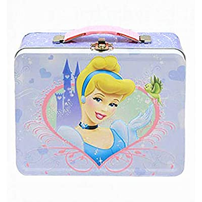 Disney Princess Cinderella Embossed Metal Lunch Box: Childrens Lunch Boxes: Kitchen & Dining
