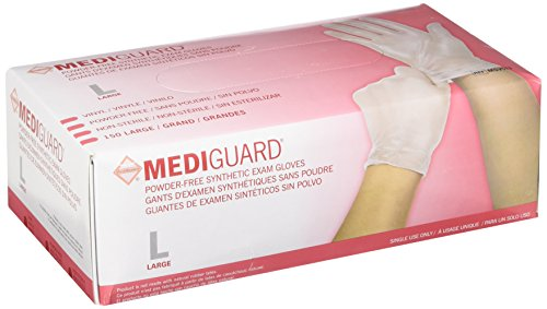 MediGuard Vinyl Synthetic Exam Gloves Size: Large by Medline (Image #1)