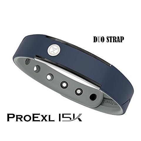 ProExl 15K Sports Magnetic Bracelet 100% Waterproof and Fully Adjustable - For Energy, Power and Focus (Navy - Navy Water Resistant Bracelet