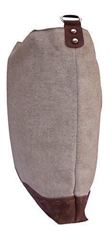 Borsa a tracolla unisex Spice Art Cream Canvas & Pure Leather