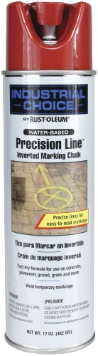 Rust-Oleum Corporation 203035 Rust-Oleum 205235 MC1800 System Precision Line Inverted Marking Chalk, 17-Ounce, Red,