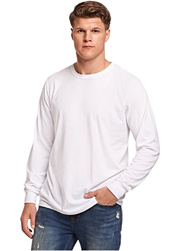 Russell Athletic Men's Essential Long Sleeve Tee, White, XL ()