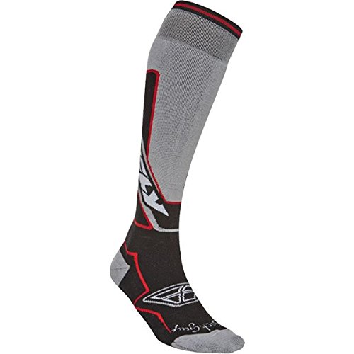 Fly Racing Moto Sock - Thick - Black/Red Large/XL - 350-0270L
