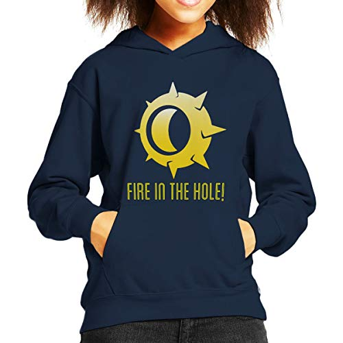 Junkrat Fire in The Hole Logo Overwatch Kid's Hooded Sweatshirt