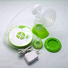 Gland Single Electric Breast Pump Breastfeeding Pump for Nursing Moms BPA Free, Green, Bowl Shape Compact Design