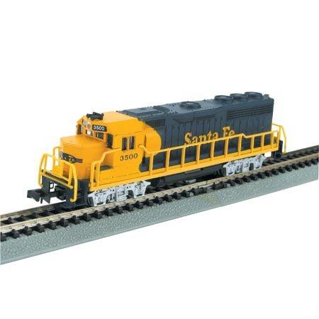Gp40 Diesel Locomotive - Bachmann GP40 - Santa Fe (Yellow And Blue) Locomotive - N Scale