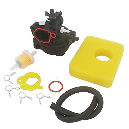KIPA Carburetor Air Filter Fuel Filter Maintenance kit for Briggs & Stratton 593261 591979 Lawn Mower Edger Outdoor Equipment Fit 300E 450E 08P502 8P502 Series OVH Vertical Engine with Seal Bulb