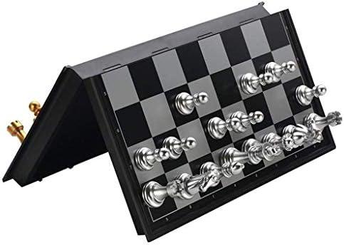 LEZDPP Scacchi Magnetic Pieghevole Scacchiera Insieme di Scacchi piegante Internazionale Checkers Leggero Gioco da Tavolo Esterno Domestico (Size : 12.5 * 12.5 Inches)