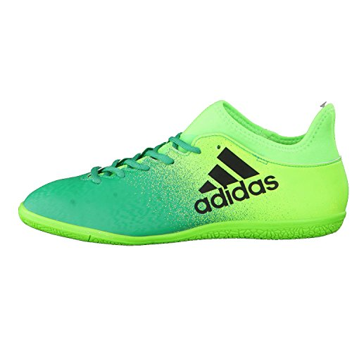 Zapatilla de fútbol sala adidas X 16.3 IN Solar green-Core black Solar green-Core black