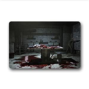 """Custom Horror house Doormat Outdoor Indoor 18""""x30"""" about 46cmx76cm"""