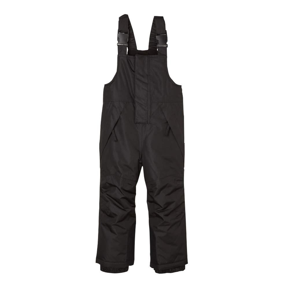 UDIY Kids Ski Pants Warm Snow Bibs Winter Outdoor Trousers for Boys Girls, Black, 5-6 Years by UDIY