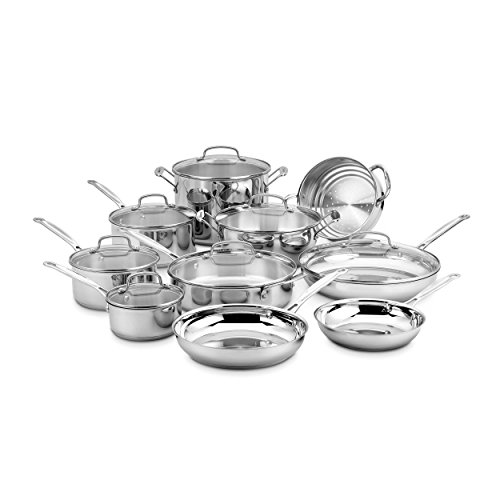 Stainless Encapsulated Bottom Copper - Cuisinart 77-17N 17 Piece Chef's Classic Set, Stainless Steel