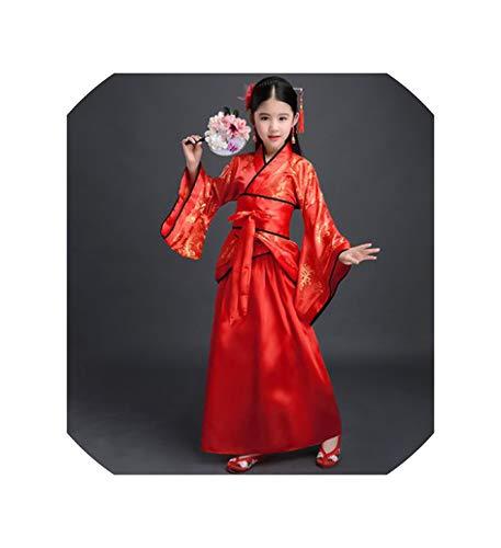 Hanfu Chinese Dress Minority Dance Kids Costumes