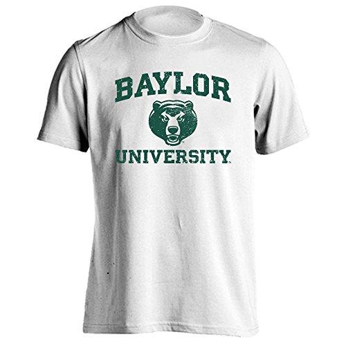 Baylor Bears Retro Distressed Logo Short Sleeve T-Shirt (White, 3X-Large)