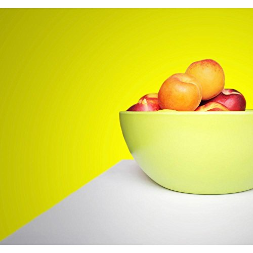 Pitaara Box Nectarines & Apricots Inside A Green Bowl Peel & Stick Vinyl Wall Sticker 27 X ()