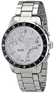 Timex T2N499 - Reloj cronógrafo de cuarzo para hombre con correa de acero inoxidable, color plateado