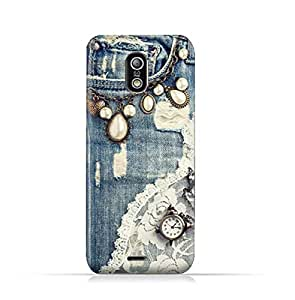 Infinix Hot X507 TPU Protective Silicone Case with Modern Jeans Pattern Design