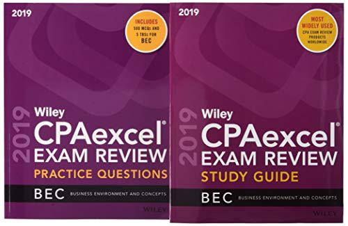 Pdf Test Preparation Wiley CPAexcel Exam Review 2019 Study Guide + Question Pack: Business Environment and Concepts