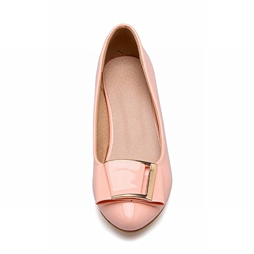 Latasa Womens Chunky Heels Pumps Casual Rosa