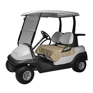 Classic Accessories Fairway Golf Cart Seat Blanket/Cover, Light Khaki
