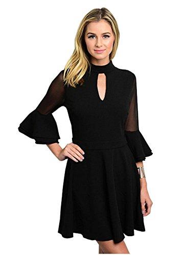 Buy bell shaped sleeve dress - 8