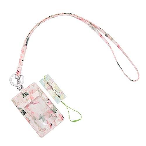 wonderful flower Id Case and Lanyard (019 Light Pink)